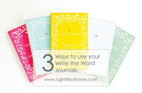 Write The Word Journal How To Use It To Further Your Walk