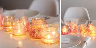 diy sparkly tablescape these little cute sparkly mason jars look really adorable and awe inspiring they are so easy to make and foremost your effort will