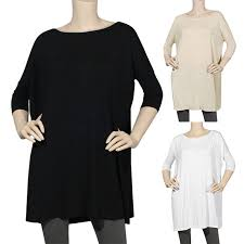 Details About Iron Puppy Dolman Bamboo Roundneck Half Slv Piko Silky Tunic Loose Fit Shirts