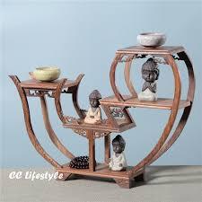 Sculpture Stands To Display Art Amazing Exquisite Wooden Art Craft Teapot Shelf Exhibit Display Holder