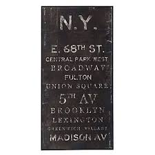 new york street names wall art