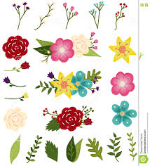 Flowers With Designs Editable Flower Designs Stock Vector Illustration Of Clip