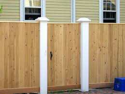 wood fence gate en with metal posts design latch lock