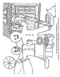 gingerbread family free coloring pages for kids printable colouring sheets