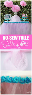 no sew tulle table skirt diy catchmyparty com
