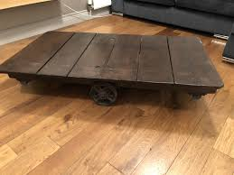 large vintage industrial cart trolley coffee table 1 of 12only 1 available