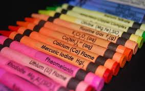 Chemical Element Labels For Crayons Help Kids Learn Periodic Table ...
