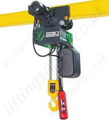 stahl st electric chain hoist capacities from 125kg up to 6 3 stahl st electric chain hoist