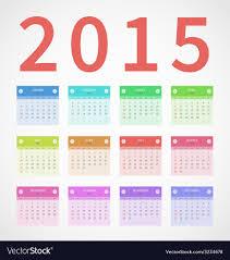 Annual Calendar 2015 Calendar Annual 2015 In Flat Design