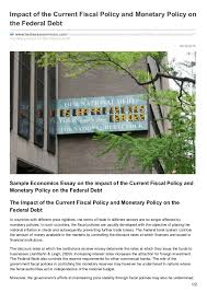 bestessayservices com impact of the current fiscal policy and moneta 08 30 2016 impact of the current fiscal policy and monetary policy on the