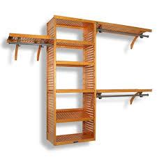 Wood closet shelving Cedar Closet Wayfair Closet Systems Organizers Youll Love Wayfair