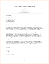 Sample Cover Letter Marketing 3 The Marketing Specific Cover