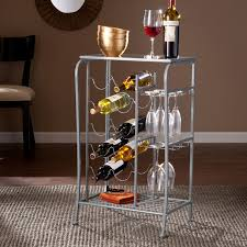 Wine storage table Wine Bottle Harper Blvd Marlena Silver Wine Rack Storage Table Wine Bar Kitchen Dining