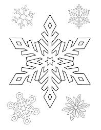 Snowflakes Free Printable Coloring Pages Winter Kerstmis