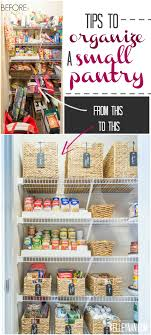 small pantry organization ideas with baskets risers and pop canisters
