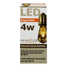 new house lighting. Newhouse Lighting LED Filament Edison Bulb Dimmable 4 W, 1.0 CT - Walmart.com New House