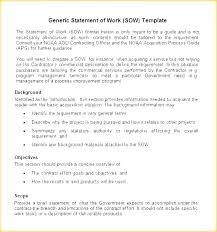 Statement Project Sow Template Software Project Sow Template