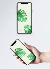 Groen Blad Mobiele Telefoon Behang Gratis Afbeeldingdownloaden