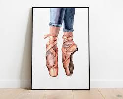 watercolor ballet shoes printable