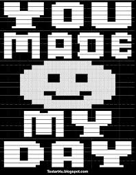 Text Art Copy Paste You Made My Day Copy Paste Text Art Cool Ascii Text Art 4 U