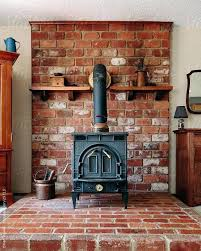 wood stove mantel convert gas fireplace back to burning hearth ideas old on brick by logs mantle heat shield