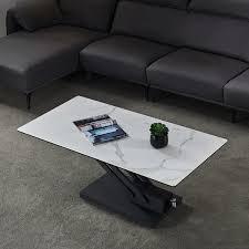 white rectangular adjustable height