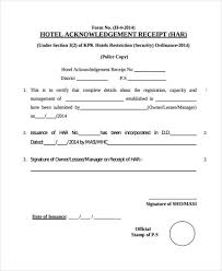 14 Acknowledgement Receipts Samples Profesional Resume