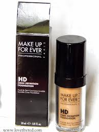 make up for ever hd foundation n 153 golden honey review love thy red love thy red