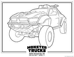 Monster Truck Color Pages Coloring Pictures Of Trucks Car Printable