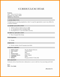 Download Sample Resume For Freshers In Word Format Valid Resume For