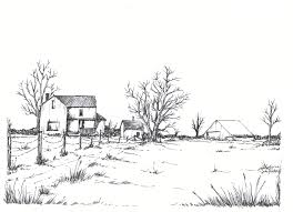 farm fence drawing. Birds. Picture Farm Fence Drawing. Learn To Draw A Barn And Pond . Drawing R