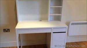 charming ikea micke desk in white with drawers and storage for home office furniture ideas