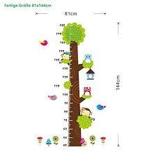 Stock Chart Art Covpaw Wall Stickers Us Stock Height Chart Measure Scale Decor Zoo Animal Owl Tree Growth Chart Kids Nursery Baby Room
