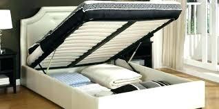 Queen Size Platform Bed With Storage Wood King Size Platform Bed ...