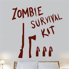 room deco furniture. Zombie Survival Kit Game Film Cool Wall Art Stickers Decals Vinyl Home Room Deco Decorative M232 Furniture E