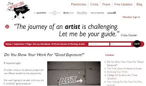 "terrific topics to write about for your art blog artwork archive artist and art business coach crista cloutier shares her advice on showing work for ""good exposure"" on her blog ""the working artist """