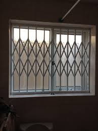 Decorative Security Grilles For Windows Rsg1000 Concertina Window Security Grills Fitted Externally To The
