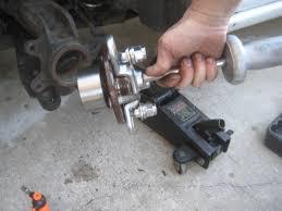 homemade wheel bearing puller. front wheel bearing diy with photo s jaguar forums homemade puller