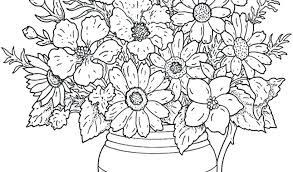 Flower Coloring Pages Ecancerargentinaorg