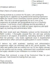 Cover Letter For A University Lecturer Eursto Com