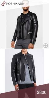 michael kors mens moto leather jacket 100 leather lining 100 cupro zip fastening dry clean by leather professional made in italy michael kors
