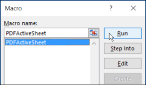 Excel Macro To Save Sheets As Pdf