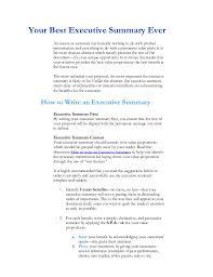 Sample Executive Summary For Resume 10 Executive Summary Example Artistfiles Revealed