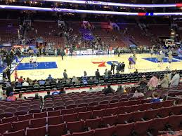 Sixers Game Seating Chart Wells Fargo Center Section 112 Philadelphia 76ers