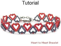 Seed Bead Patterns Unique Heart To Heart Bracelet Beading Pattern Simple Bead Patterns