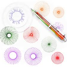 Spiral Design Us 4 2 40 Off Children Spirograph Drawing Toys Set Accessory Spiral Design Interlocking Gear Doodle Kids Learning Education Gift In Drawing Toys