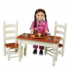 Farmhouse Collection Farm Table & Chairs for Madame Alexander Doll