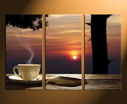 home decor 3 piece canvas art prints cup plate artwork kitchen large canvas on large kitchen wall art with 3 piece large pictures cup plate multi panel canvas sunset canvas