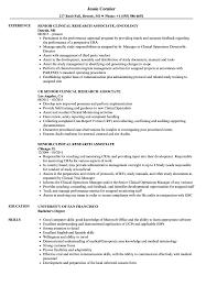Clinical Research Associate Job Description Resume Senior Clinical Research Associate Resume Samples Velvet Jobs 31