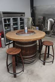 wood barrel furniture. Wine Barrel Table In The Brew Lab Wood Furniture
